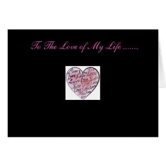 Cartão O amor de minha vida