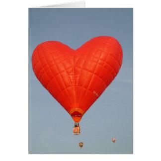 Cartão O amor do balão está no ar