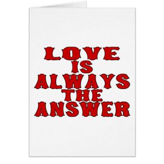 Cartão O amor é a resposta