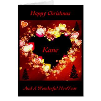 """Cartão O """"amor é em chamas no Natal """" *"""
