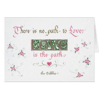 Cartão o amor é o trajeto