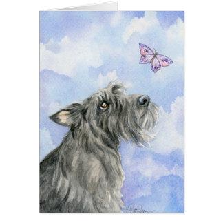 Cartão O amor é para sempre Scottie e borboleta
