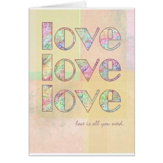Cartão O amor é tudo que você precisa