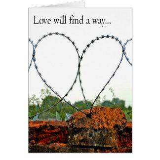Cartão O amor encontrará uma maneira