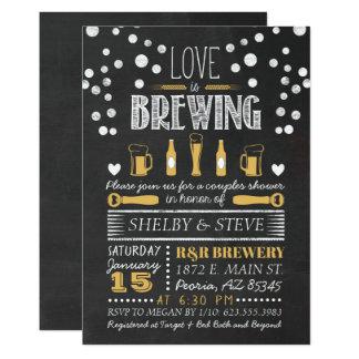Cartão O amor está fabricando cerveja o chá de panela