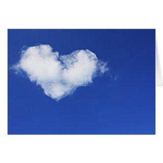 Cartão O amor está no ar. O dia de namorados