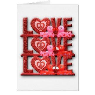 Cartão O amor faz o mundo ir 'redondo
