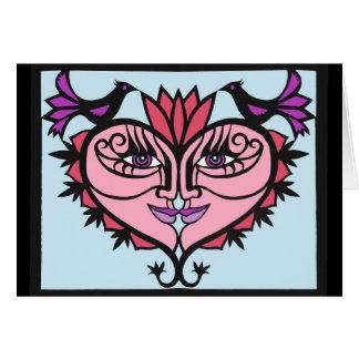 """Cartão O """"amor ganha"""" o design do papercut por Jennifer"""