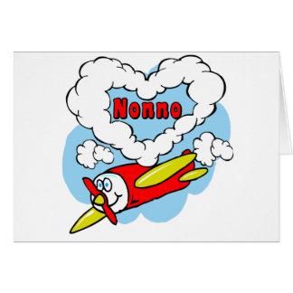 Cartão O amor Nonno caçoa o avião