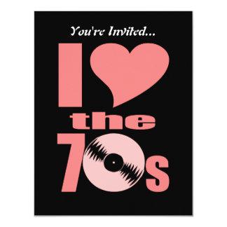 Cartão O amor retro de I os anos 70 dos anos 70 | Party o