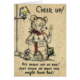 Cartão O animal cómico da antiguidade do elogio do urso