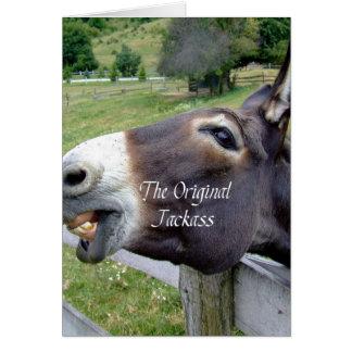 Cartão O animal de fazenda engraçado da mula do asno do