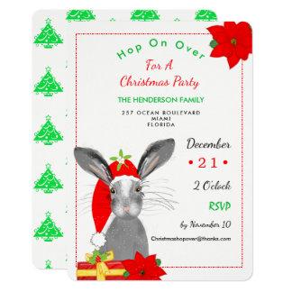 Cartão O animal irrisório da floresta do coelho do Natal