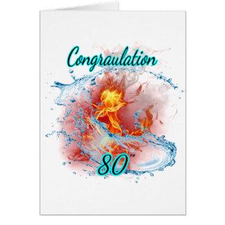 Cartão O aniversário aumentou 80