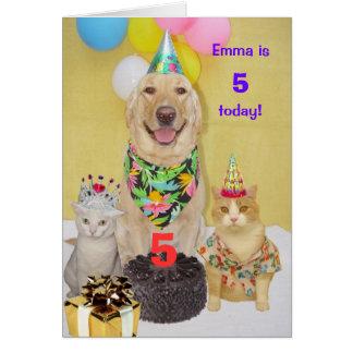 Cartão O aniversário customizável do miúdo do ano