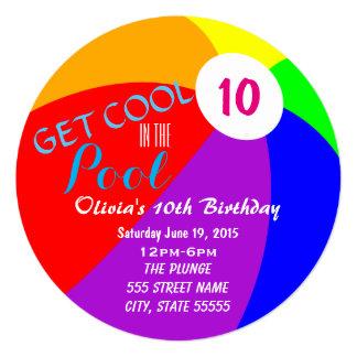 Cartão O aniversário da festa na piscina convida