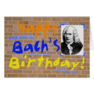 Cartão O aniversário de Bach