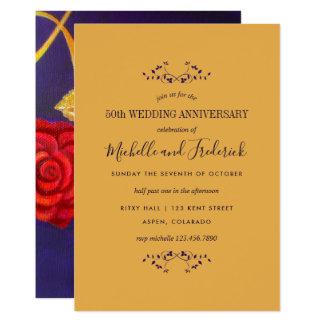 Cartão O aniversário de casamento cor-de-rosa do presente