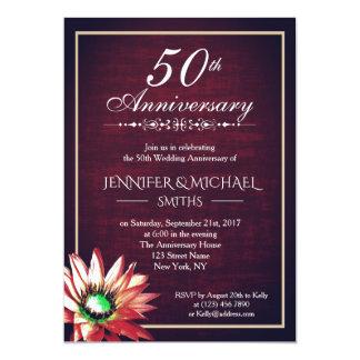 Cartão O aniversário de casamento elegante de Borgonha