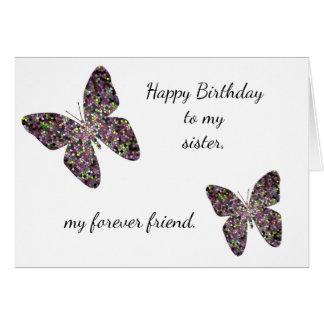 Cartão O aniversário de uma irmã mais idosa deseja