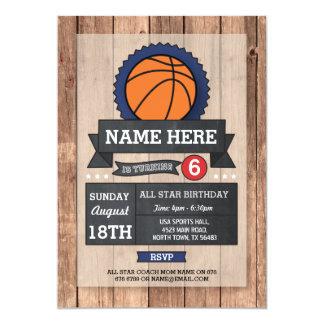 Cartão O aniversário do basquetebol do partido dos