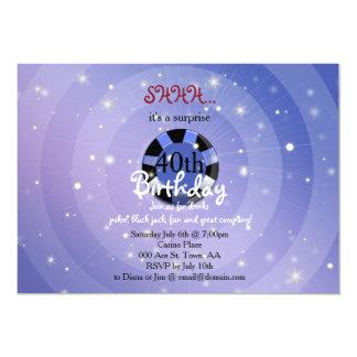 Cartão O aniversário do estilo de Casino-Vegas convida