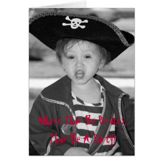 Cartão O aniversário do pirata convida - personalizado