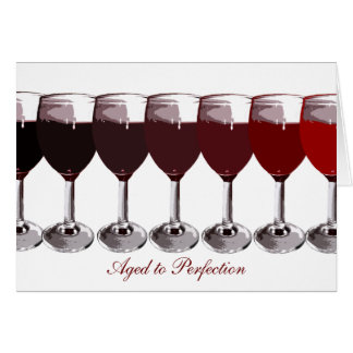 Cartão O aniversário do vinho tinto convida