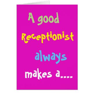 Cartão O aniversário engraçado do bom recepcionista