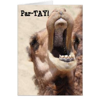 Cartão O aniversário engraçado do camelo, Partay, vai