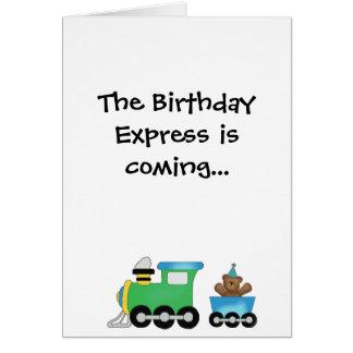 Cartão O aniversário expresso