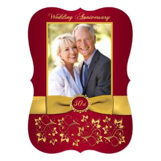 Cartão O aniversário IMPRESSO da FITA 50th convida - o