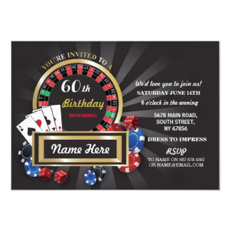Cartão O aniversário Las Vegas da noite do casino convida