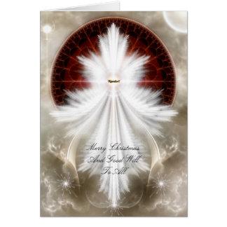 Cartão O anjo voa a arte do Fractal do floco de neve