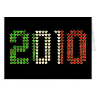 Cartão O ano 2010 novo e os esportes italianos da