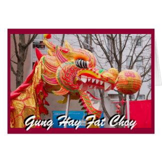Cartão o ano novo do dragão