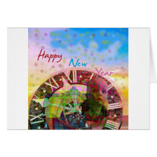 Cartão O ano novo está vindo logo