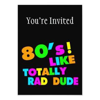 Cartão o anos 80 gosta totalmente do gajo do Rad de néon