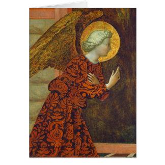 Cartão O arcanjo Gabriel, C. 1430 (tempera no painel)