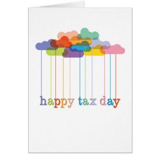 Cartão O arco-íris nubla-se o dia feliz do imposto