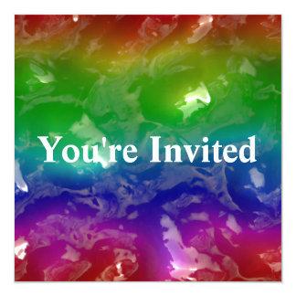 Cartão O arco-íris psicadélico Jellied Ooze