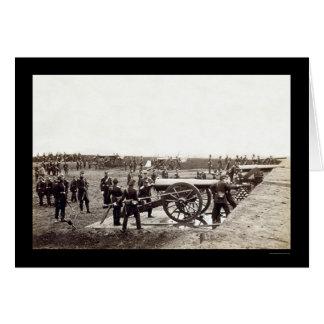 Cartão ø Artilharia pesada de Connecticut no forte