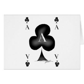 Cartão O ás de clubes por Tony Fernandes