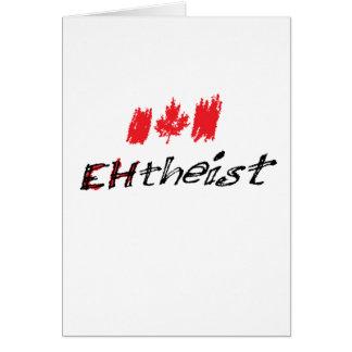 """Cartão O ateu canadense é chamado """"EHtheist""""!"""