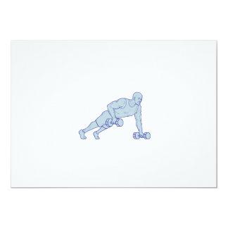 Cartão O atleta da malhação levanta um desenho do