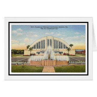 Cartão O auditório municipal de Sarasota
