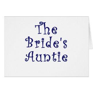Cartão O Auntie das noivas