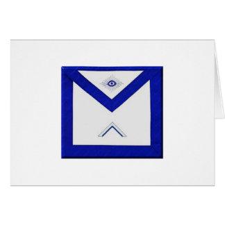 Cartão O avental do mestre do Freemason