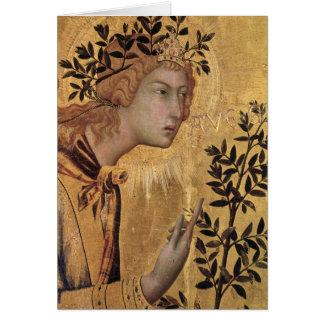 Cartão O aviso com St Margaret