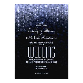 Cartão O azul elegante do casamento ilumina o fundo do